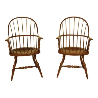 Frederick Duckloe Windsor Arm Chairs - a Pair For Sale