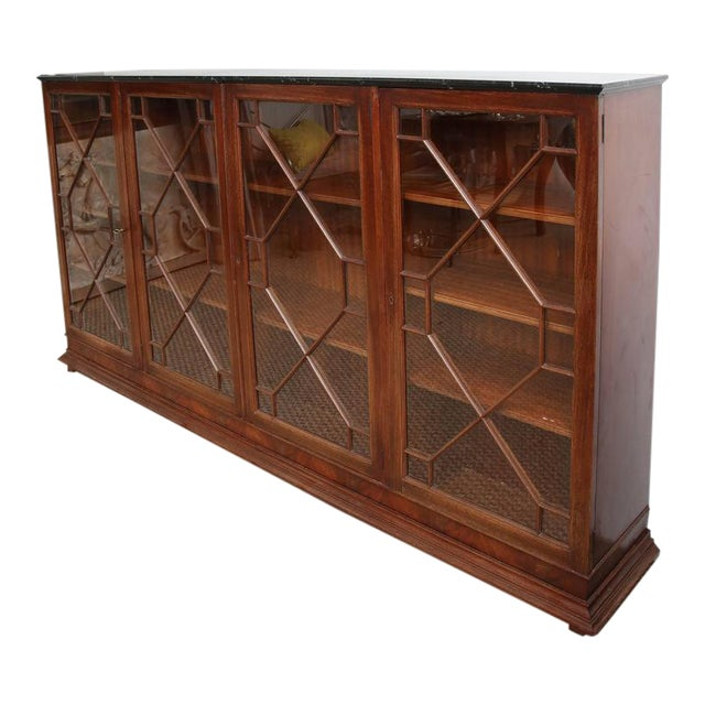 English Mahogany Bookcase For Sale