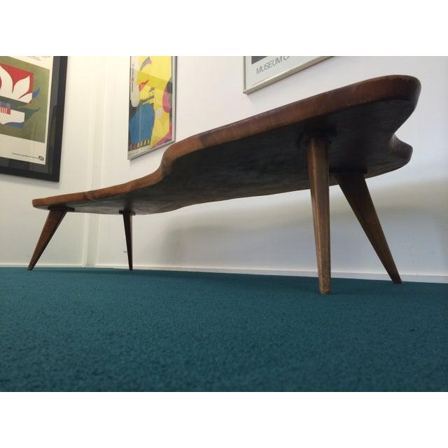 Large Vintage Monkey Pod Wood Slab Coffee Table - Image 3 of 7