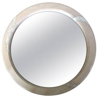 Karl Springer Style Goatskin Mirror For Sale