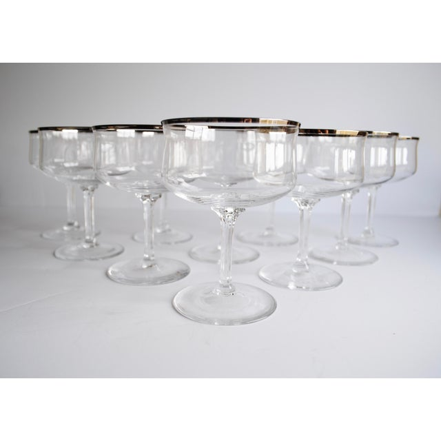 Silver Rim Champagne Coupes - Set of 10 - Image 2 of 4