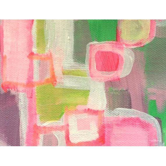Pink & Green Abstract Painting by Linnea Heide - Image 3 of 4
