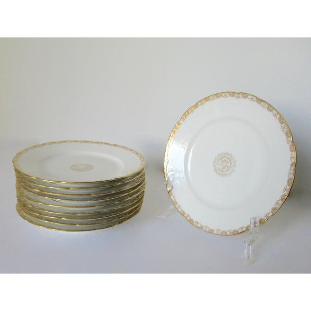 Art Deco Vintage BMdeM, L. Strauss & Sons for Limoges Gilt Medallion Dinnerware - 60 Pieces For Sale - Image 3 of 13