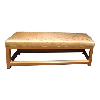 Modern Authentic Cowhide Bench For Sale