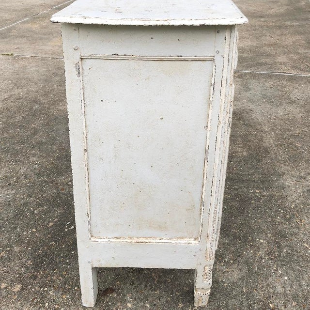 18th Century Country French Louis XVI Painted Buffet For Sale - Image 9 of 13