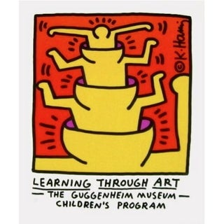 Keith Haring Learning Through Art, 1990 Guggenheim Museum Exhibition Lithograph 1990 For Sale