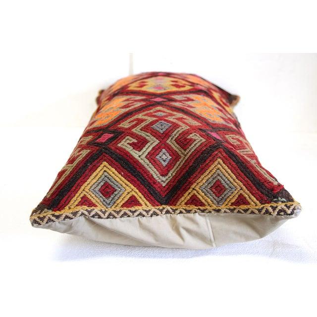 Oversized Burgundy Turkish Kilim Cushion - Image 3 of 4
