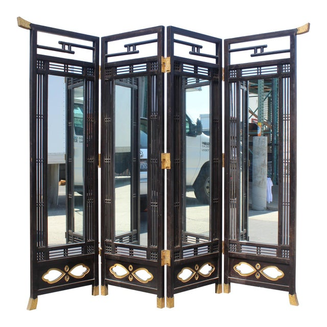 Japanese Meiji Period Mirrored Screen For Sale - Image 12 of 12