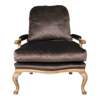 Traditional English Lounge Chair For Sale