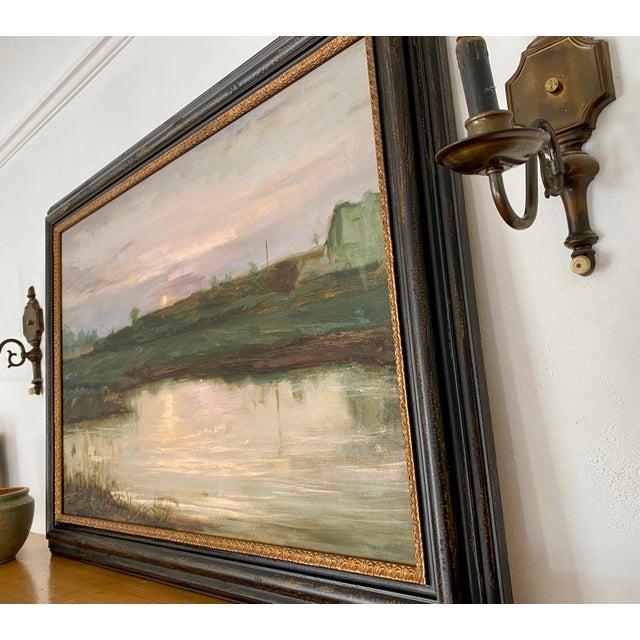 2000 - 2009 Landscape #2 Harvest Moon Fine Art Giclée Print Framed For Sale - Image 5 of 6