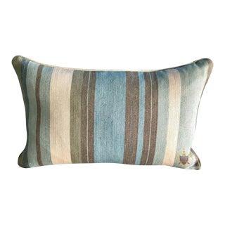 Ralph Lauren Linen Cabin Stripe Bolster Accent Pillow For Sale