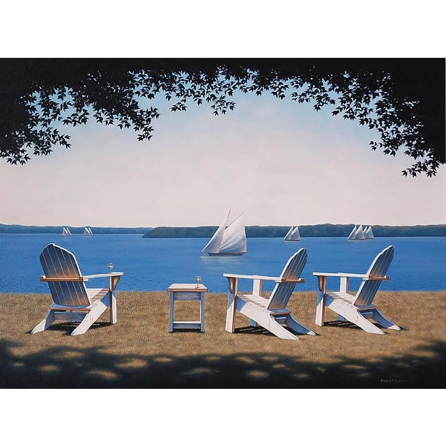 Daniel Pollera, Afternoon Seating Painting, 2016 For Sale In New York - Image 6 of 6