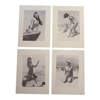 Vintage Ltd. Ed. Photogravures - Female Nudes -1965 - Folio Size - Set of 4 For Sale