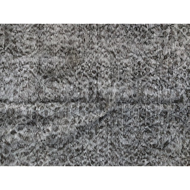 Textile 1960s Vintage Turkish Distressed Gray Carpet - 5′4″ × 9′6″ For Sale - Image 7 of 11