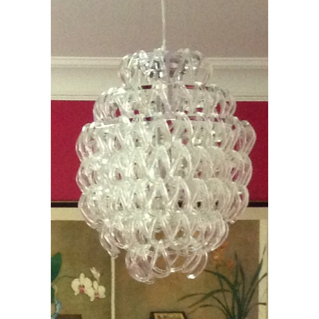 Draped Glass Chandelier - Image 2 of 4