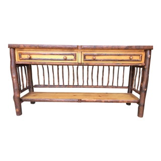 Rustic Mountain Console Table For Sale