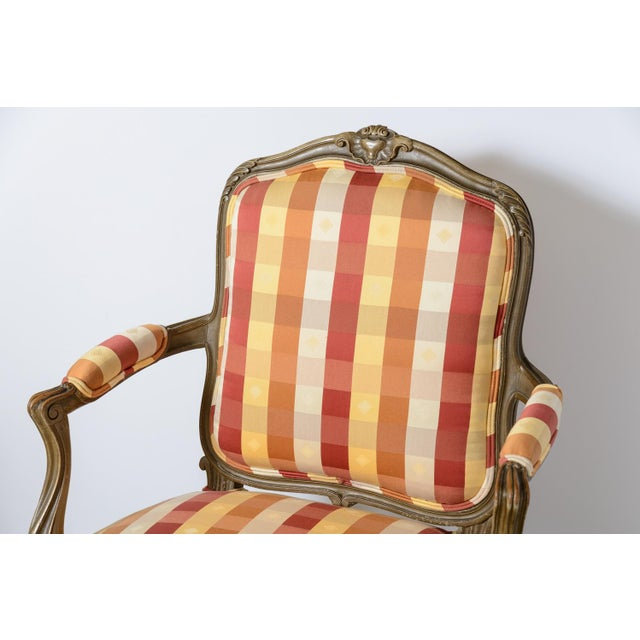 French Late 19th Century Painted Fauteuils - a Pair For Sale - Image 3 of 11