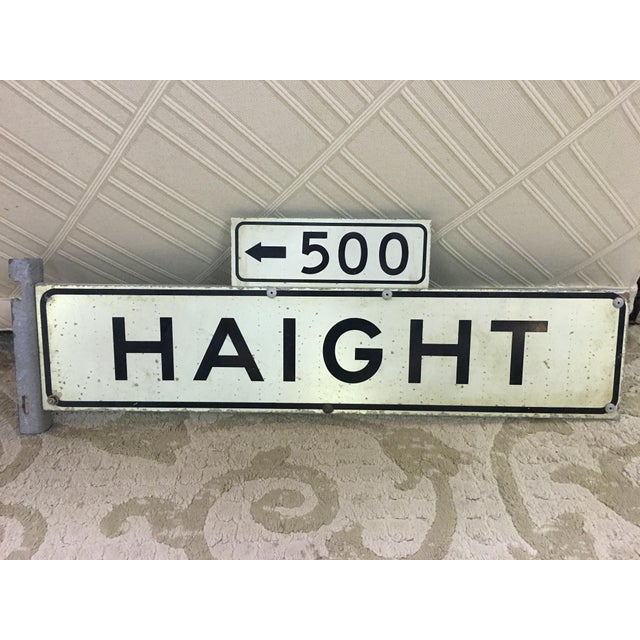 1970s Haight Street 500 Block Metal Sign - Image 2 of 6
