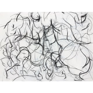 Polo Player Movement II Abstract Drawing For Sale
