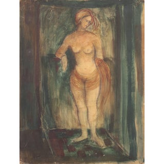 'Standing Nude' by Esther Fuller, Post-Impressionist Woman Artist, Circa 1953, For Sale