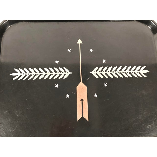 Gold Art Deco George Switzer Inlaid Resin Tray for Micarta, Circa 1930s For Sale - Image 8 of 11