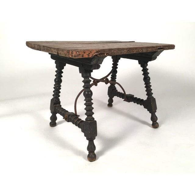 Baroque 19th Century Spanish Baroque Style Side Table For Sale - Image 3 of 10