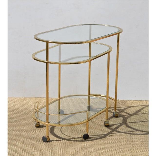 Brass & Glass Bar Cart - Image 5 of 9