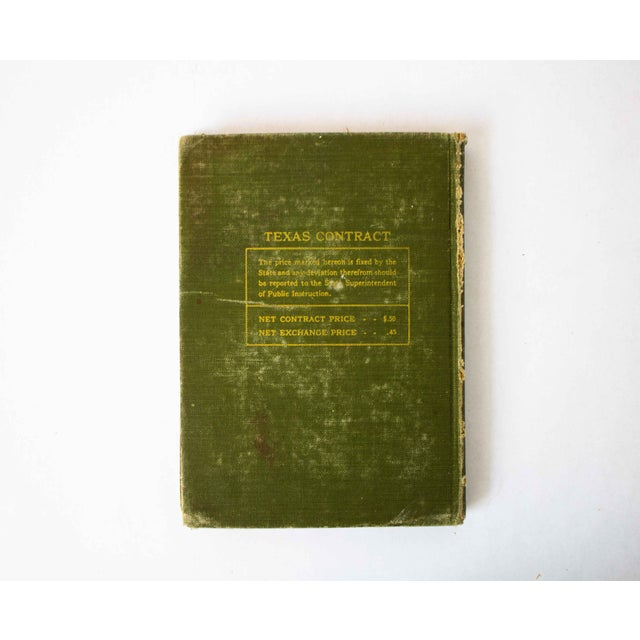 American Antique Green and Gold Schoolbook For Sale - Image 3 of 11