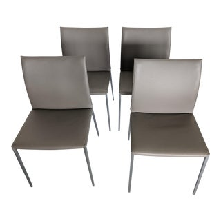 Zanotta Italian Designer Dining Chairs - Set of 4 For Sale