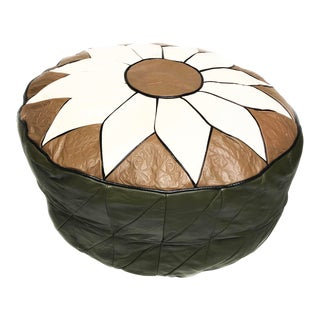 Vintage Leather Turkish Pouf