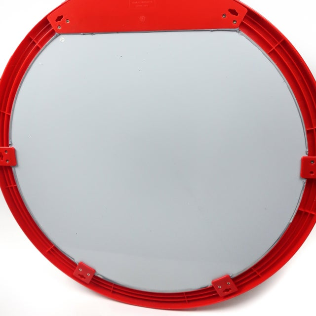Glass 1990s Red Dyrvik Wall Mirror by Ikea For Sale - Image 7 of 10