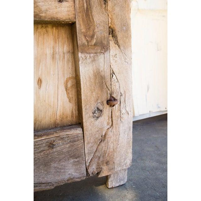 Wood Antique Guadalajaran Exterior Swinging Mesquite Rustic Doors - A Pair For Sale - Image 7 of 11