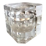 Image of C.1970, Alessandro Abrizzi, Attr. Lucite Ice Bucket With Swivel Top, Made in Italy For Sale