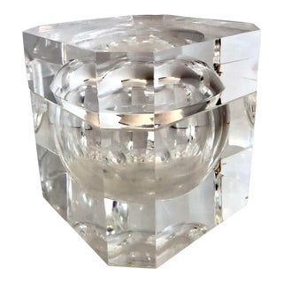 C.1970, Alessandro Abrizzi, Attr. Lucite Ice Bucket With Swivel Top, Made in Italy For Sale