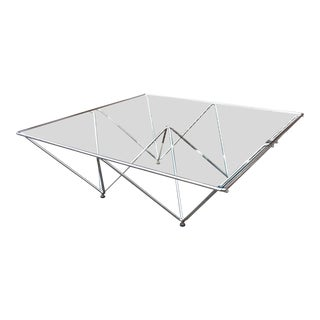 "Paolo Piva ""Alanda"" Chrome Coffee Table For Sale"