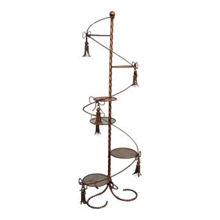 Hollywood Regency Style Gilt Plant Stand For Sale