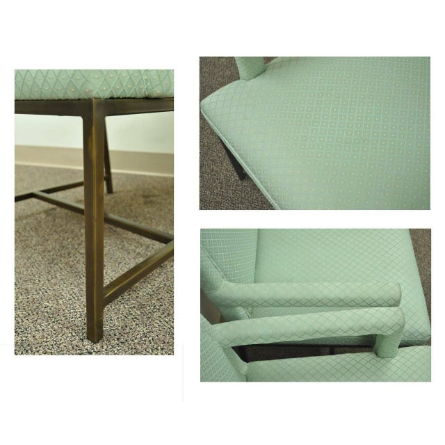 1970s 1970s Modern Upholstered Arm Chairs - a Pair For Sale - Image 5 of 10