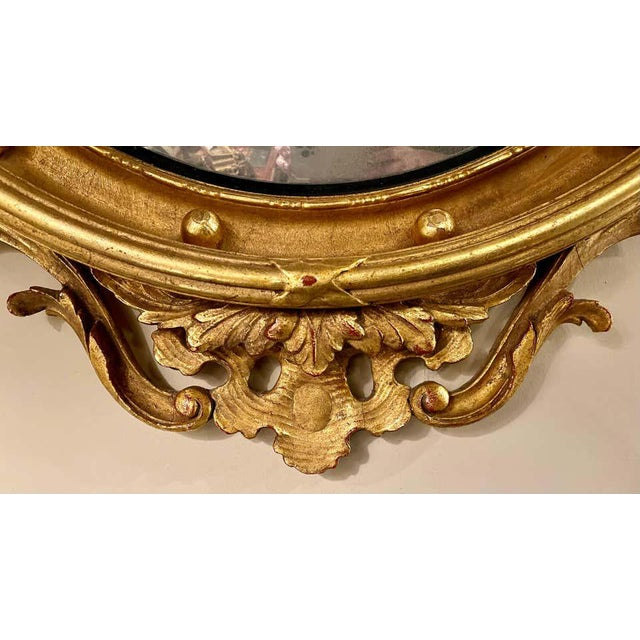 1950s Federal Style Convex Eagle Carved Mirror, Wall, Console Mirror For Sale - Image 5 of 13