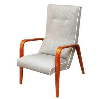 Mid-Century Thonet High-Back Lounge Chair For Sale