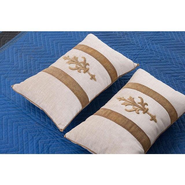 Antique Textile Pillows By B.Viz Designs - A Pair - Image 3 of 5