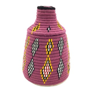 Raspberry & Yellow Moroccan Basket