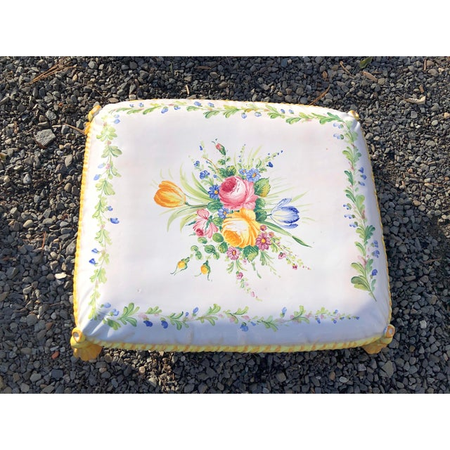 1960s 1960s Vintage Ceramic Garden Seat For Sale - Image 5 of 13