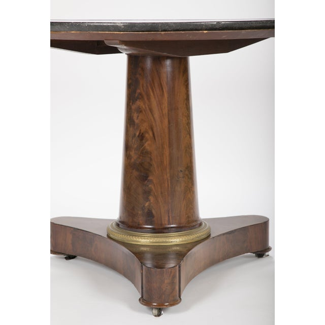 Empire 19th Century English Marble Top Center Table For Sale - Image 3 of 13