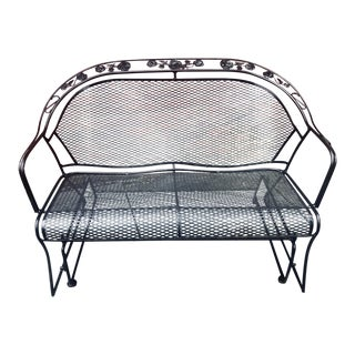 Woodard Wrought Iron Glider Bench