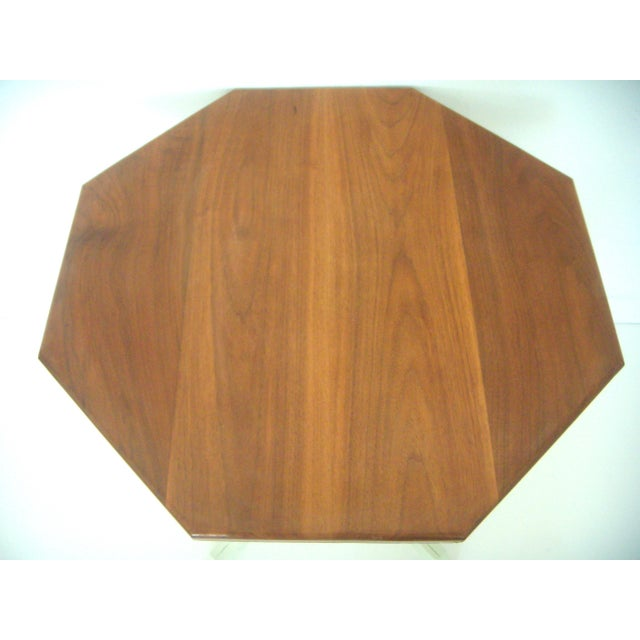 Boho Chic Vintage Cherry Wood Occasional / Dining Table With Lime Spritz Base For Sale - Image 3 of 3