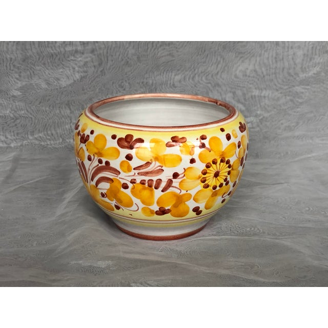Vintage Italian Ceramic Pottery Indoor Planter For Sale - Image 4 of 13