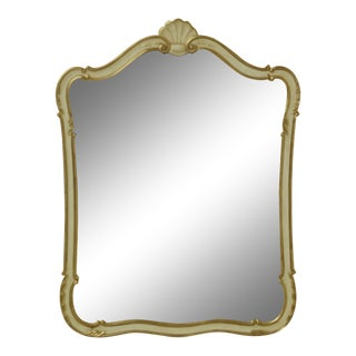 Kindel French Provincial Style Mirror W. Gold Trim For Sale