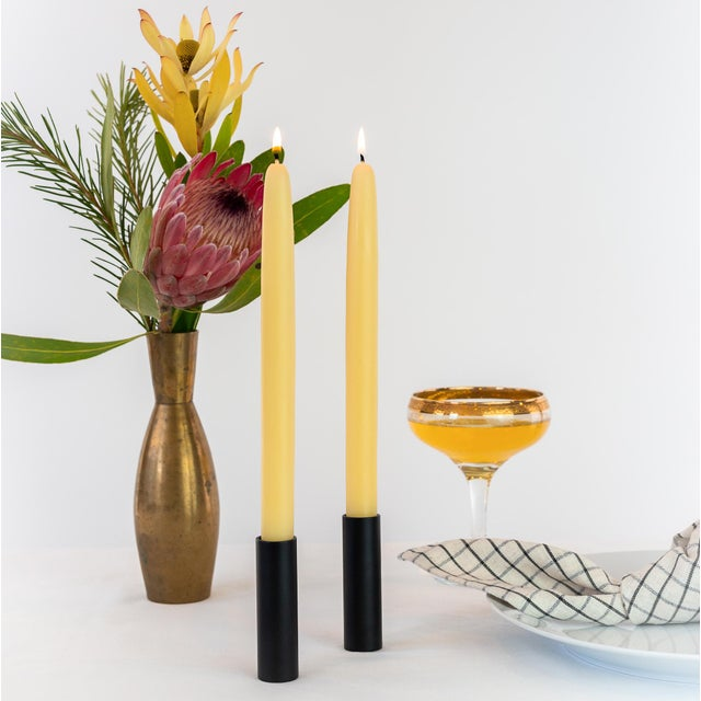 Dipped Beeswax Candles | Natural Gold Classic Taper: 10 inches Sold in pairs Ingredients: 100% Beeswax from bees in the...