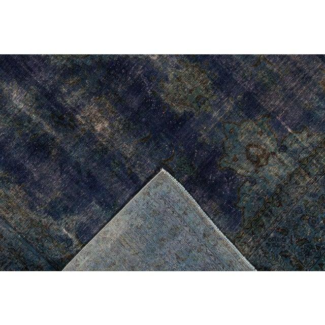 "Apadana - Vintage Overdyed Rug, 9'4"" X 13'0"" For Sale - Image 4 of 6"