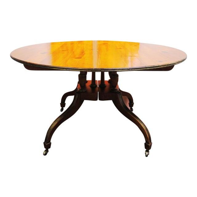 Baker 2 Leaf Dining Table - Image 1 of 6